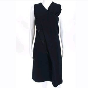 DEREK LAM Vest Style Navy Blue Dress